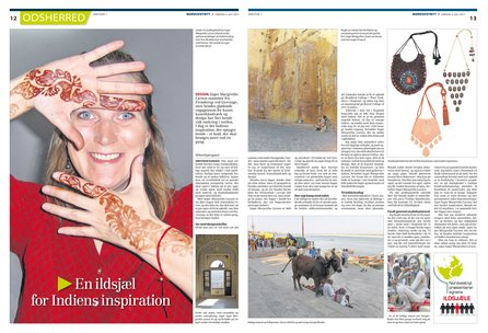 Read article about Inger Margrethe Larsen  and her artist residency experience in India - In Danish newspaper 6th July 2013 (In Danish)