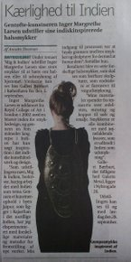 News in Danish Newspaper called Villabyerne 3. Sept. 2013 about  ME & INDIA - (In Danish)